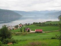 Норвежский фьорд Стоковая Фотография RF