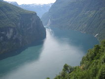 Норвежский фьорд Стоковые Фото