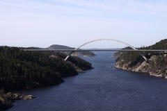 Норвежский шведский мост стоковое изображение rf