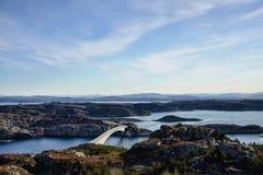 Норвежское побережье Стоковые Фото