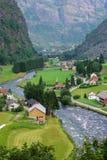 норвежское село Стоковые Фото