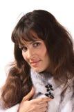 норка девушки шерсти пальто Стоковое Фото
