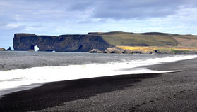 Нордический seascape на этап Dyrholaey Стоковое фото RF