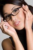 носить девушки eyeglasses стоковое фото