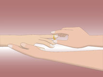 Носить кольца Стоковые Фотографии RF