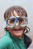 носить маски подныривания мальчика Стоковые Изображения