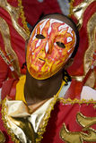 носить маски человека пламени пожара costume Стоковые Фото