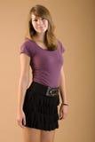 носить милой юбки предназначенный для подростков Стоковое Изображение