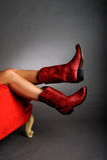 носить ног ботинок красный Стоковые Изображения