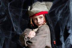 носить пирата costume мальчика маленький Стоковые Изображения RF