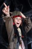 носить пирата costume мальчика маленький Стоковая Фотография