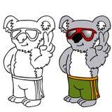 носить солнечных очков koala иллюстрация вектора