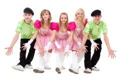 носить фольклорной команды танцульки costume украинский Стоковое фото RF