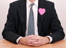 носить человека сердца стола дела Стоковые Изображения RF