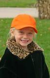 носить шлема ребенка померанцовый Стоковое Фото