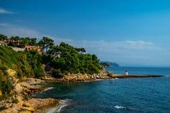 Носить-le-rouet полуостров во Франции Провансали стоковые фото