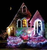 носит вектор santa ночи иллюстрации подарков claus рождества Стоковые Изображения