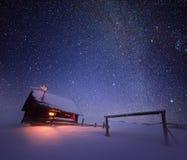 носит вектор santa ночи иллюстрации подарков claus рождества Стоковая Фотография RF