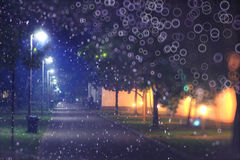 носит вектор santa ночи иллюстрации подарков claus рождества Стоковые Изображения RF