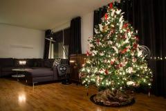 носит вектор santa ночи иллюстрации подарков claus рождества Стоковое Фото