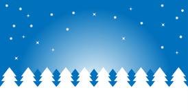 носит вектор santa ночи иллюстрации подарков claus рождества Стоковое фото RF
