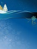 носит вектор santa ночи иллюстрации подарков claus рождества Стоковое Изображение RF