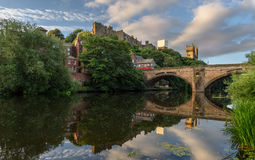 Носка Англия Великобритания реки собора Дарема Стоковые Изображения RF
