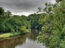 Носка реки, Brancepeth, Co Дарем, Великобритания Стоковая Фотография