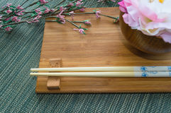 Носка таблицы с цветками Стоковое фото RF