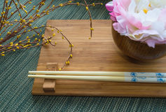 Носка таблицы с цветками Стоковое Изображение RF