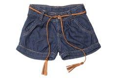 Носка ` s детей - шорты джинсов стоковое изображение