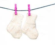 Носки младенца Стоковое фото RF