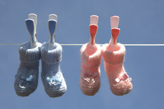 носки младенца стоковые фотографии rf