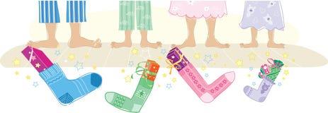 носки подарков рождества Стоковые Изображения