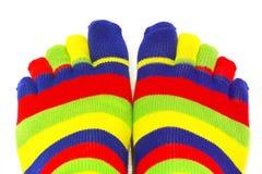 Носки радуги стоковые фотографии rf