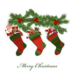 носки рождества Стоковое Фото