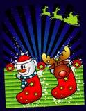 носки рождества иллюстрация штока