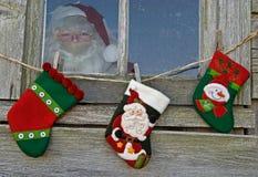 носки s santa стоковое фото rf