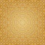 Носовой платок золота с золотым орнаментом Стоковые Фото