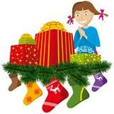 носок подарков рождества Стоковые Изображения RF