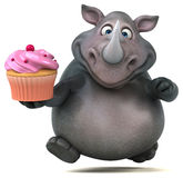Носорог потехи - иллюстрация 3D Стоковое Изображение RF