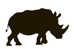 Носорог силуэта вектора moving бесплатная иллюстрация