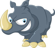 носорог шаржа милый Стоковые Фотографии RF