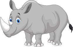 Носорог шаржа Стоковые Изображения RF