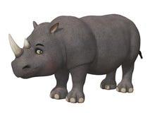 Носорог шаржа 3d Стоковые Фотографии RF