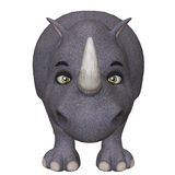 носорог шаржа 3d Стоковые Фото