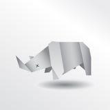Носорог Origami Стоковые Фотографии RF