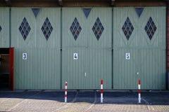 Ностальгические двери гаража Стоковая Фотография RF