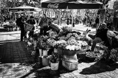 Ностальгические цыганские продавцы цветка в Стамбуле - Турции Стоковая Фотография RF
