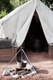 Ностальгический лагерь Стоковые Фотографии RF